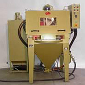 Automatic rotary assembly blasting unit