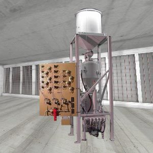 Two chamber sandblast unit with blasting material recovery and recycling