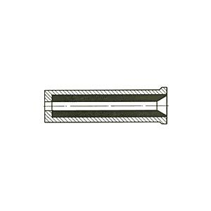 Long life nozzles with inlet made of boron carbide (quattrobor-nozzles)