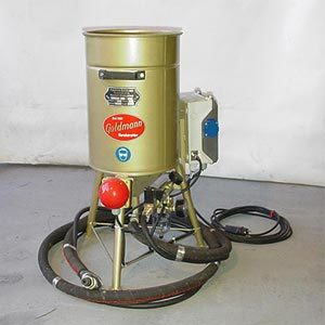 Injection blasting unit