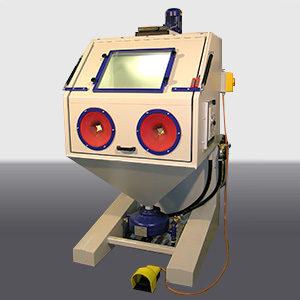 Pressure sandblast cabin type Rationell