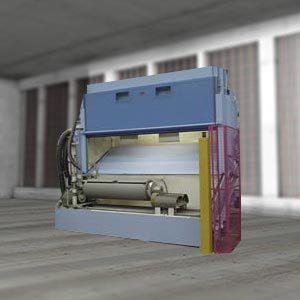 Sandblast unit for the treatment of axles